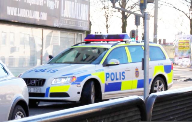 Polisbilen som stoppade Social Frihet