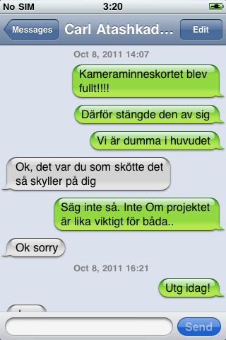 Flirter på sms