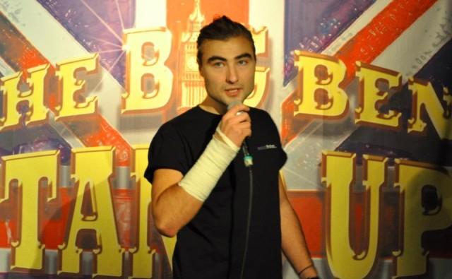 Nils Johansson på Big Ben Stand Up Klubb i Stockjholm